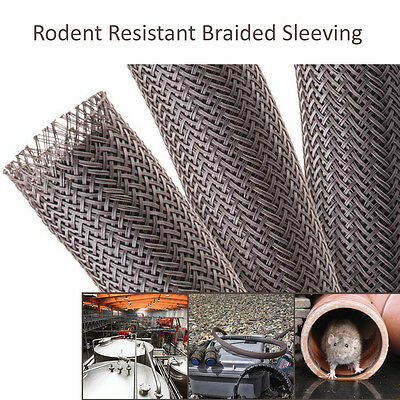 Rodent Resistant Expandable Braided Sleeving for Mouse & Rat Repellent