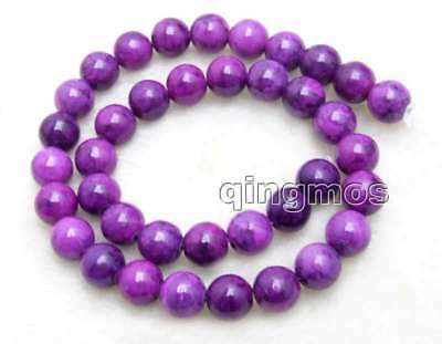 10mm Purple Round Natural Sugilite Loose Beads for Jewelry Making Strand 15''