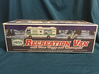 Hess Diecast Toy/Vehicle: 1998 Recreation Van/DuneBuggy&Motor Cycle (NIBox)(466)