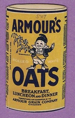 0417E   Die Cut Armour's Rolled White Oats Vtg Advertising Recipe Booklet