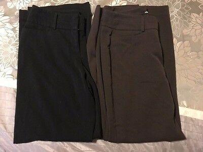 Lot of 2 Women's Dress Pants Size 10 Apt. 9 Black and Brown