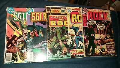 our army at war sgt rock 5 issue bronze age comics lot run set movie collection