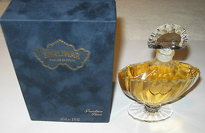 Guerlain Shalimar Perfume Bottle/Box 2 OZ - 60 ML - Full - EDP - Unused - 5 3/4""
