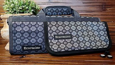 Lot 2 MESSERMEISTER Padded 6 Slot Knife Roll 15in. and 10in Tool Case
