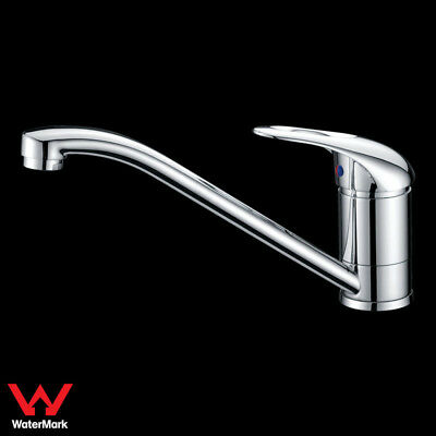 WELS Kitchen Swivel Sink Mixer Tap Faucet Brass Chrome Handle with Hole