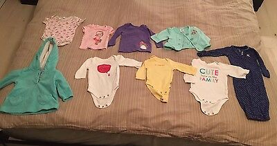 Lot Of Newborn 0-3 Months Baby Girl Clothes