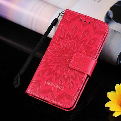 For Apple iPhone 7 Leather Flip Wallet Case Protective Stand Pouch Cover