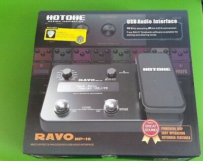 HOTONE RAVO - MULTI EFFECTS PROCESSOR Used Once .Mint $250.00 New