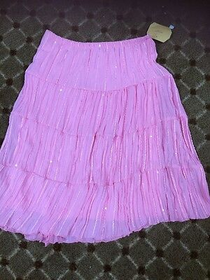 American City Wear Girls Size 16 Pink  Lined Summer Skirt