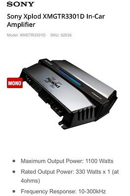 Sony Xplod XMGTR3301D In-Car Amplifier RRP $299