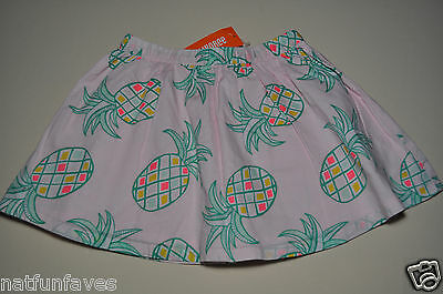 Gymboree girls pineapple pink skirt size 10 NWT girl  100% cotton