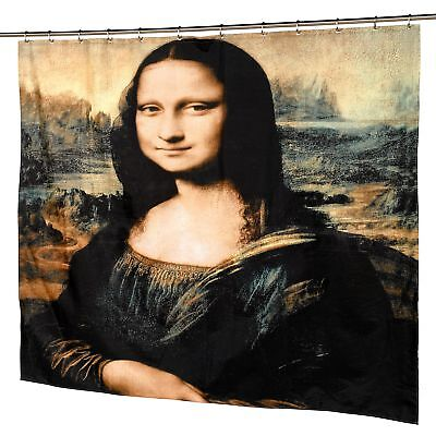 """Carnation """"Mona Lisa"""" Museum Collection Polyester Fabric Shower Curtain 70""""x72"""""""