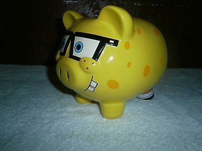 Spongebob piggy bank with glasses Squarepants