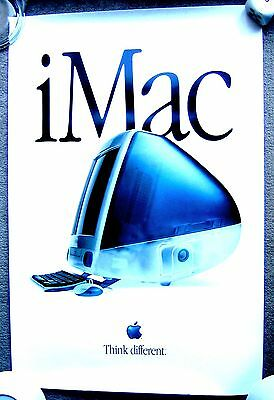 """TWO VINTAGE ORIGINAL APPLE COMPUTER POSTERS  """"THINK DIFFERENT"""" & APPLE 11cx"""