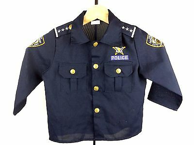 Dress Up America Kids Police Law Enforcement Costume Long Sleeve Top Size 4T