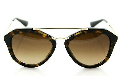 9bbda7e38d4 NEW Genuine PRADA CINEMA Catwalk Tortoise Gold Sunglasses PR 12QS 2AU-6S1  379020