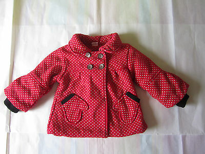 Y. Little Girl's Red Front pockets Polka dots Jacket/ Size: 2T-3T
