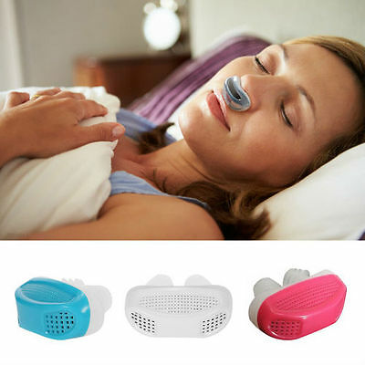 New Silicone Anti Snore Nasal Dilators Apnea Aid Device Stop Snoring Nose Clip