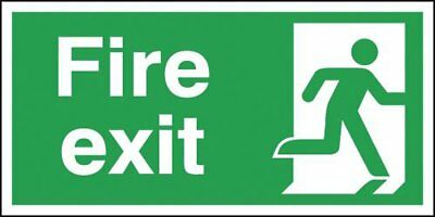 "Signs and Labels AMZFX04930R ""Fire Exit Running Man Right"" Safe Condition Safety"