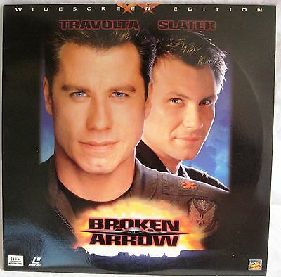 LASERDISC Broken Arrow (THX) - Cover Good & Disc is Good to VG