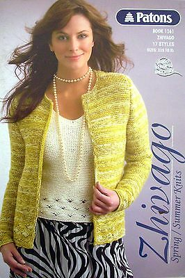 Patons Knitting Pattern Book - SPRING /SUMMER KNITS - 17 Styles in Zhivago 8 Ply