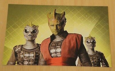 Doctor Who Printed Postcard ~ Homo Reptillia - Warrior Class ~ New