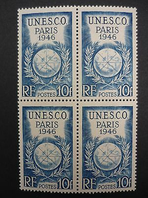 France 1946 10fr UNESCO block of 4 vf MINT never hinged MNH SG 991