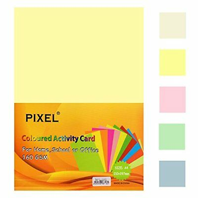 Pixel® Colour Copy/Printing Card 50 Sheets for Home, School, Office or Arts &