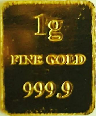 1 Gram Baird & Co Gold Bar - 999.9% Pure Gold (Secure Post)
