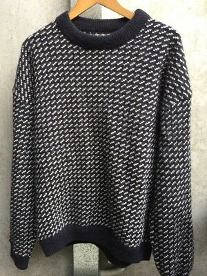 ROOTS •• Men's 80%  Thick Wool Jumper • (NORWAY) Fits  Large/ XL