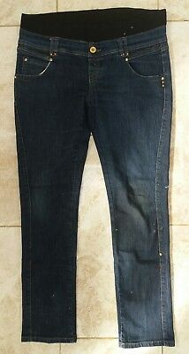 New Look Yes Yes Ladies Size 14 Blue Maternity Slim Fit Jeans Autumn Wear Denim