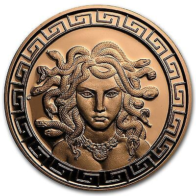 1 oz Medusa Copper Round - .999% Pure - Mintage Only 100,00 (Secure Post)