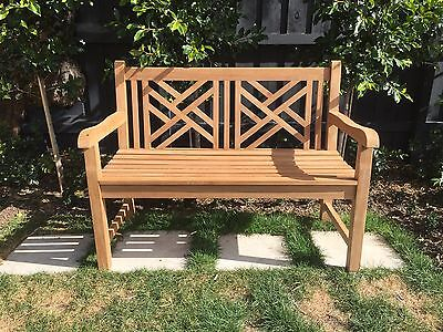 NEW Stylish Teak Outdoor Garden Bench Seat Hamptons