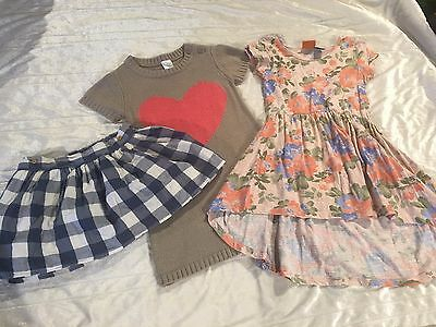 Girls Size 4 - 2 x dresses and a skirt from France.