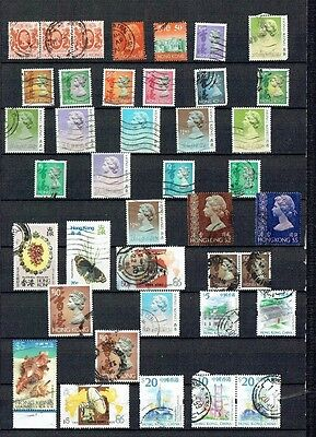 Stamps Hong Kong full page nice mix $5 $10 $20 included