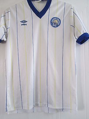 Leeds United 1981-1984 Home Football Shirt Size Medium Adult / 41749