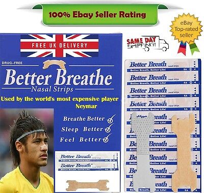 Nasal Strip - Breathe Better *Snoring Aid* + Free Strips - Used by Neymar - 100%