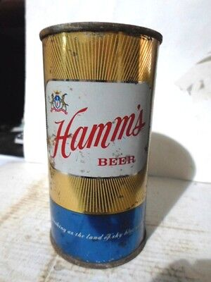 "1950`s Hamm`s 11 Ounce -""""los Angeles California""""- Flat Top Beer Can"