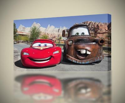"Canvas print Picture Disney Cars 2 McQueen and Hook 35x35 cm //13.78/""x 13.78/"""