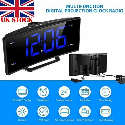 digital alarm clock led wall ceiling projection lcd. Black Bedroom Furniture Sets. Home Design Ideas