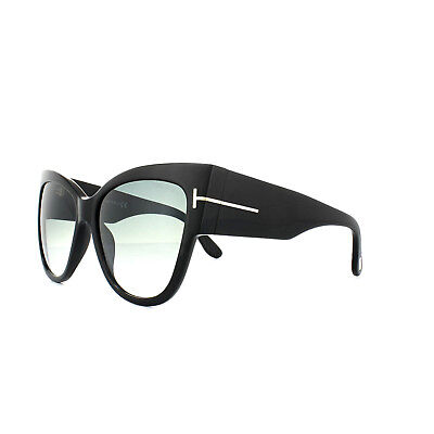 1b630652dc TOM FORD SUNGLASSES 0371 Anoushka 01B Shiny Black Grey Gradient ...