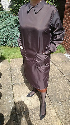 Brown Nylon Overall - back zip - New without tags