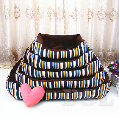 XS-XL Soft Washable Pet Basket Bed Cushion Fleece Fabric Puppy Dog Cat FREE GIFT
