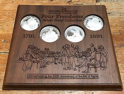 "20 TROY OUNCES .999 SILVER COINS SAT. EVE POST ROCKWELL ""Four Freedoms"" (4) 5-oz"