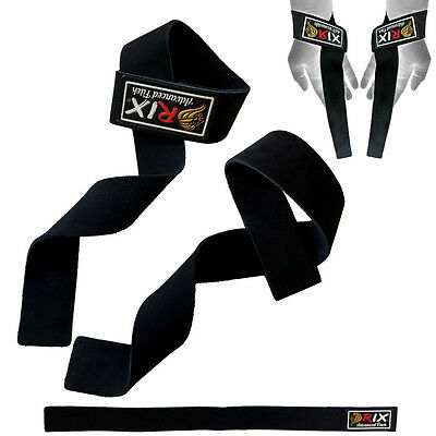 Rix Leather Weight Lifting Gym Training Wraps Hand Bar Grip Support Wrist Straps
