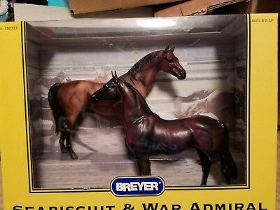 Breyer horses seabiscuit and war admiral  set