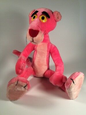 """1991 22"""" Pink Panther Posable Plush United Artists Pictures Inc."""