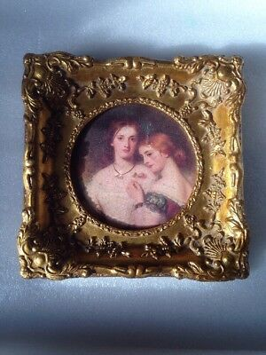 Antique Highly Patinated Gild Gesso Picture / Portrait Frame