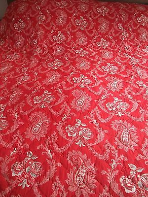 VICTORIAN PAISLEY HAND STITCHED QUILT - Turkey Red Paisley Quilt