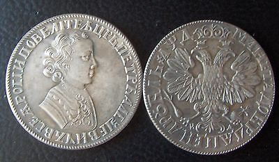 Russian coin 1 Ruble dated 1705